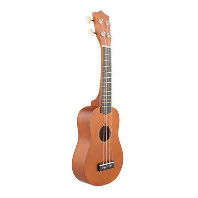 21'' Soprano Basswood Ukulele Uke 12 Frets Instrument Hawaiian Guitar Coffee