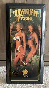 """Limited Edition Hawaiian Tropic Wall Clock Jebco 23"""" x 11"""""""