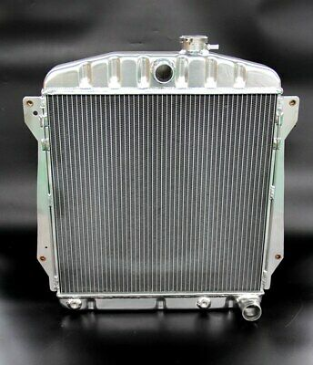 POLISHED ALUMINUM RADIATOR FIT 1946-1948 CHEVY CARs V8 3 ROWS DIE FORMED TANKS