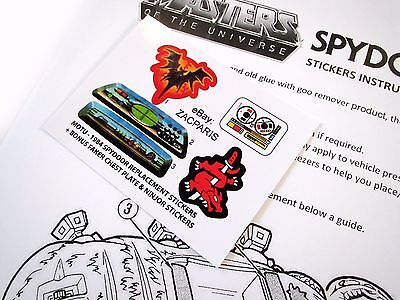 MOTU He-man Masters of the Universe Spydor replacement Sticker