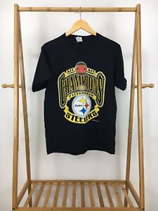VTG-1995-AFC-Pittsburgh-Steelers-NFL-Champions-Short-Sleeve-T-Shirt-Size-M