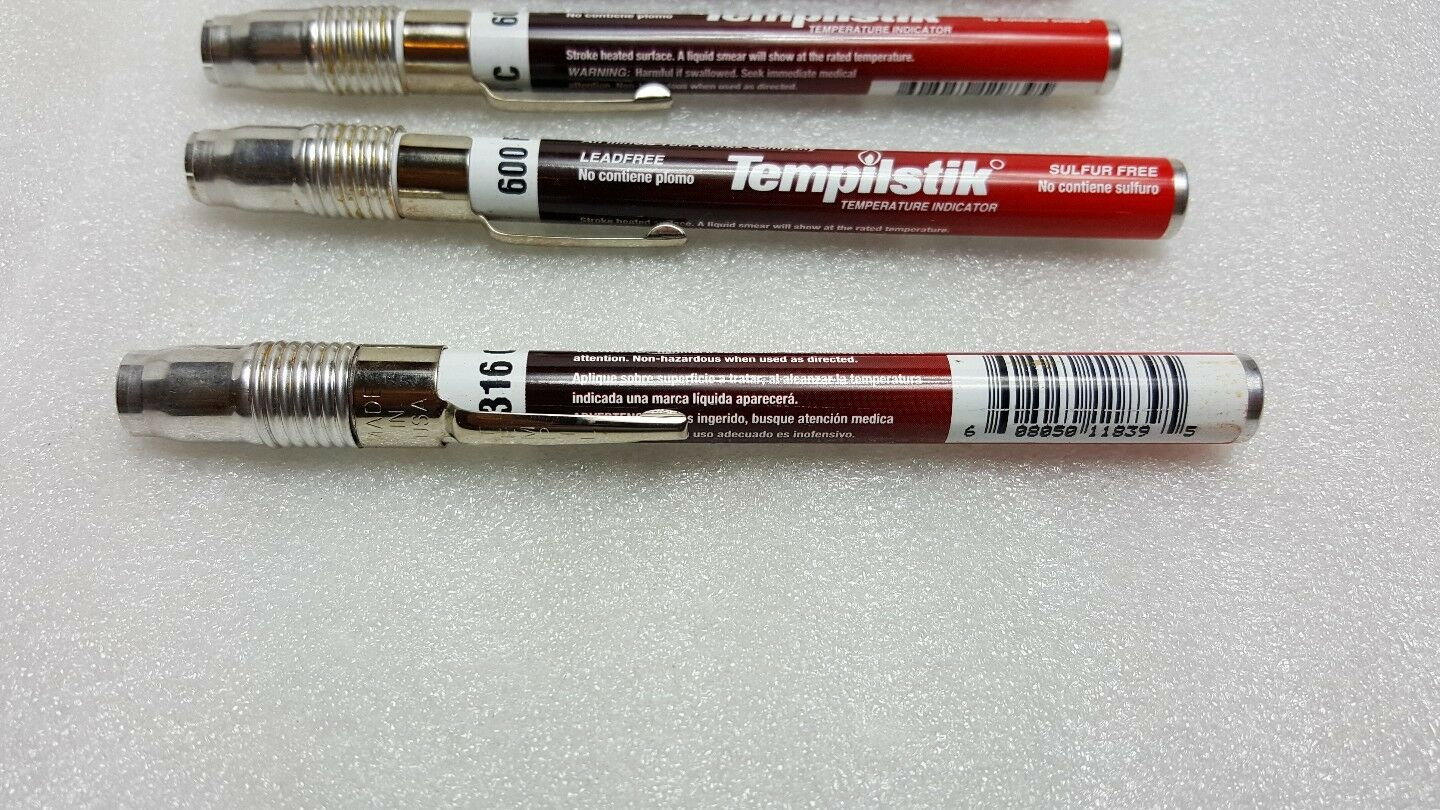 Tempil° TS0600 Tempilstik Temperature Indicators Lot of 5 600 Degree F,28047