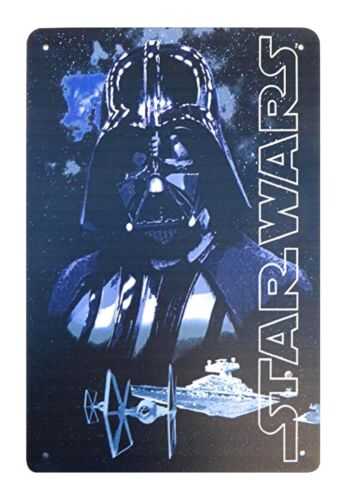 US SELLER bathroom wall decor Star Wars Darth Vader tin metal sign