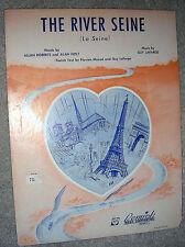 1953 THE RIVER SEINE (La Seine) Sheet Music by Lafarge, Roberts, Holt