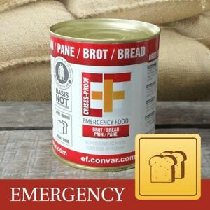 sofort lieferbar 15,36€//kg 12 x Emergency Food Roggenvollkornbrot Dosenbrot