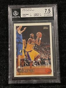 1996-97 Topps Kobe Bryant RC #138 BGS 7.5 (7, 9, 9.5, 9.5) TWO 9.5s NM+ Lakers📈