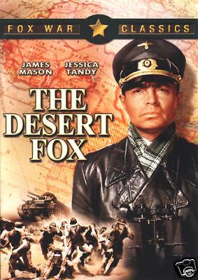 The desert fox James Mason vintage movie poster print