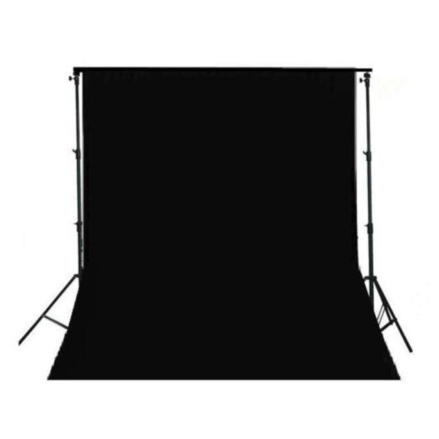 3m x 3.6m 100% Muslin Black Cotton Backgroud Photo Studio Photography Backdrops