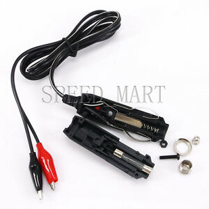 car cigarette lighter power plug with 1m wire 2 clips auto rh ebay com 12v cigarette lighter plug wiring Car Cigarette Lighter
