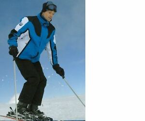 Activewear Diplomatic Men Snow Ski Suit Set Jacket/pants Hiking Water/windproof Blue/black Sz M-xxl