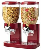 Healthy Dry Food Dispenser, Kitchen Kids Eating Nuts Cereal Diet Red/chrome