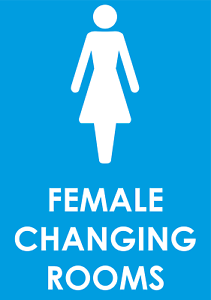 Female changing rooms Health /& Safety sign