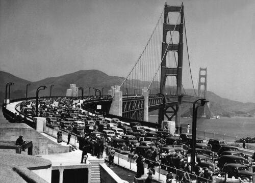 1937 San Francisco Bay GOLDEN GATE BRIDGE Glossy 8x10 Photo Print Poster