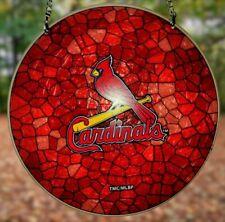 ST LOUIS CARDINALS MLB WINDOW ART GLASS SUN CATCHER BASEBALL TEAM HOME DECOR