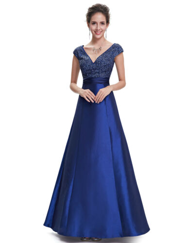 14 Ever Pretty Maxi FemmeLongueSoirᄄᆭeFᄄᄎteFormellePromNouveautᄄᆭ Blue Taille Dress WIHED2Y9