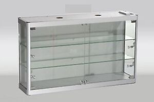 Image Is Loading High Cl Aluminum Wall Mounted Gl Display Cabinet
