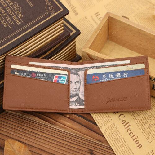 Men/'s Money Clip RFID Blocage Porte-Carte en Cuir Véritable Slim Portefeuille Portefeuille