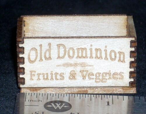 Dollhouse Miniature Old Dominion Produce Crate 1:12 Scale Farm Food Market Store
