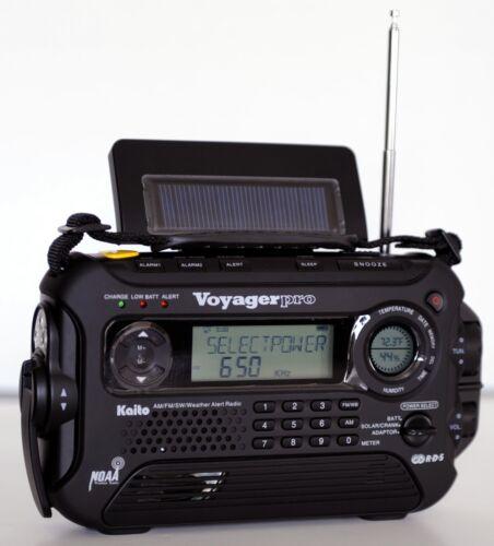 Kaito Voyager Pro KA600 Digital Solar Dynamo,Wind Up,Dynamo Cranking AM//FM//LW...