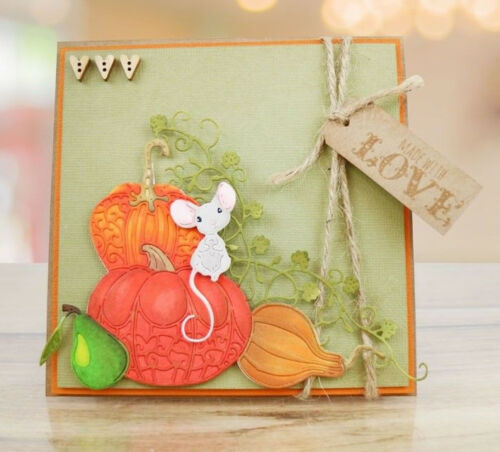 TLD0632 Tattered Lace Dies LITE LUNCH Mouse Pumpkin Fruit Metal Cutting Dies