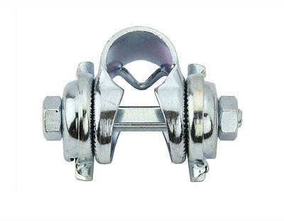 Silver Chrome Seatpost Seat Post Pillar Saddle Rail Bike Bicycle Bracket Clamp