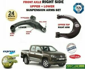 FOR-VW-AMAROK-2010-gt-RIGHT-FRONT-AXLE-UPPER-LOWER-WISHBONE-2-CONTROL-ARM-SET