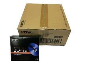 TDK-BD-RE-1-2X-25GB-Blu-ray-rewritable-blank-media-50pc-10x-5pk