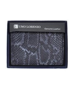 Umo Lorrenzo Men Genuine Leather Bi Fold Wallet Snake Print