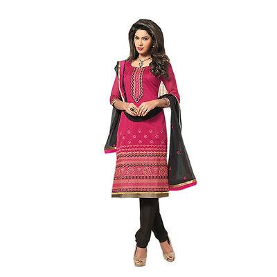 Beautiful indian nice chudidar chanderi  Dress material  1655
