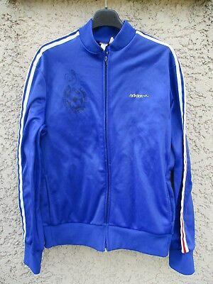 Veste FRANCE ADIDAS football vintage giacca jacket tracktop années 70 Ventex XL | eBay