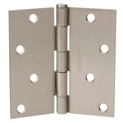 "B1660  4 1//2/"" Square Corner Hinge  Grey Prime Coat"