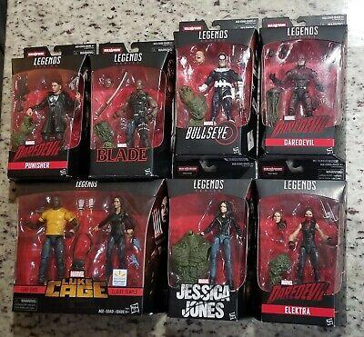 Marvel Legends Man-Thing BAF Daredevil Netflix Series Elektra Figure Head Lot