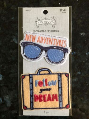 Sew-ology Iron-On Patch New Adventures Follow your Dreams Iron Appliqué