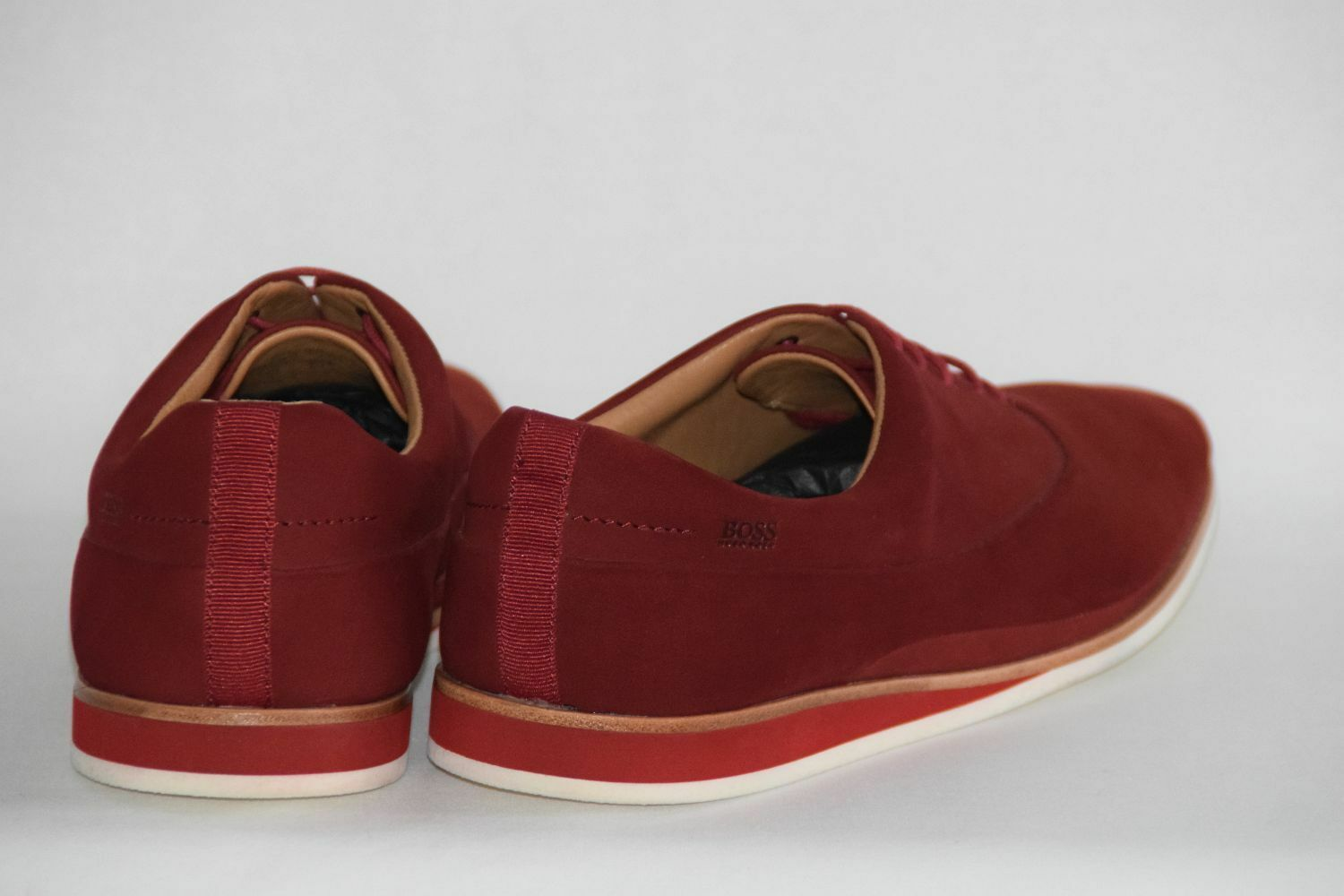 HUGO BOSS SCHUHE, Mod. Eclimo, Gr. 9.5 43,5 / UK 9.5 Gr. / US 10.5  Medium ROT a2dcab