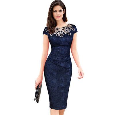 Vestidos Ropa De Moda Para Mujer Largos Casuales Elegantes De Fiesta Encaje Ebay