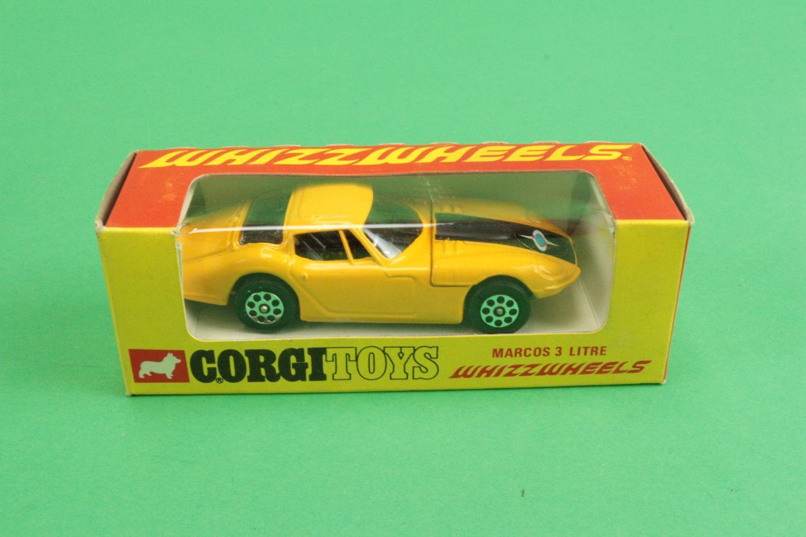 1 43 Corgi Toys Whizzwheels No 377 Marcos 3 litre inventory Fund [rr3-049]