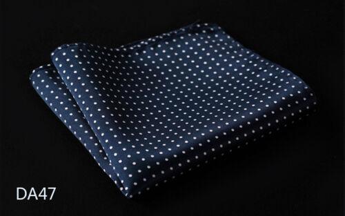 DA Polka Dot Mens Silk Pocket Square Hanky Wedding Party Handkerchief Fashion