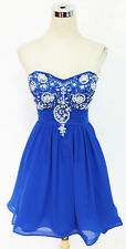 SEQUIN HEARTS Blue Homecoming Prom Party Dress 9 -$100 NWT