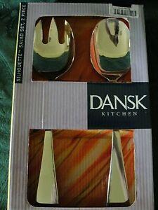 Dansk-Silhouette-Stainless-Salad-Serving-Set-NIB