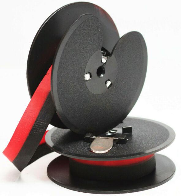 "2 Vintage Portable Manual Royal Typewriter Spools Ribbon Black//Red  2/"" X 1//2"