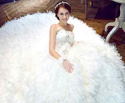 Lady White Flower Pearl  wedding bridal headband Festival hairband  ribbon Uk