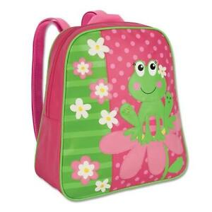 New Girls Frog Kids School Backpack Back