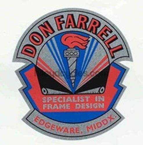 DON FARRELL (middlesex) Head/seat decal.