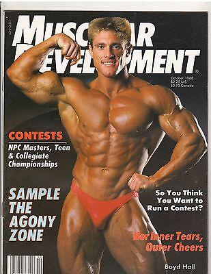 MUSCULAR DEVELOPMENT bodybuildnig muscle magazine/BOYD HALL 10-88