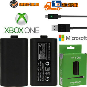 For-Xbox-One-Play-and-Charge-Kit-Rechargeable-Battery-Pack-amp-Charging-Cable