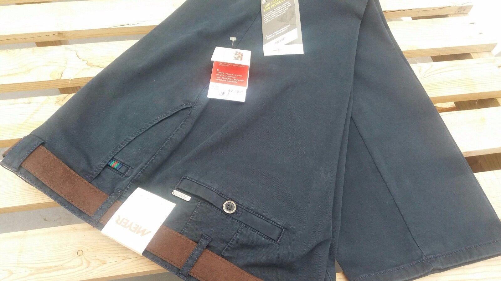 Meyer Roma Marineblau Weiche Baumwolle Freizeithose 107cm44   46   48   50   52