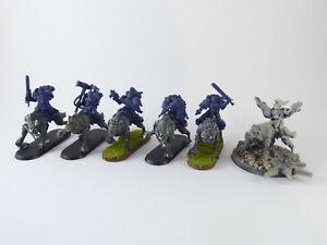 6-x-Thunderwolf-Cavalry-der-Space-Wolves-teilweise-bemalt-Umbau