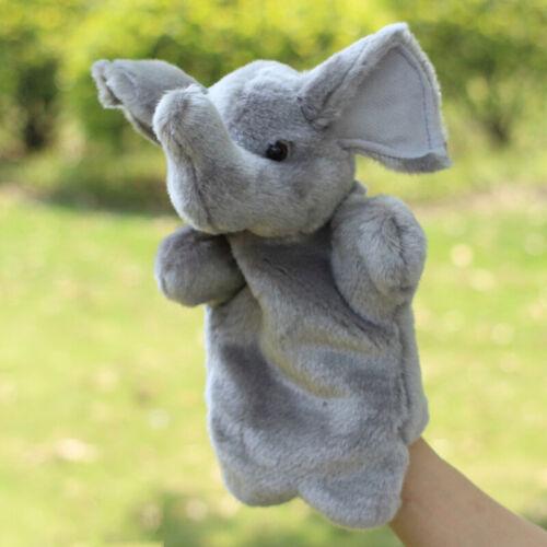 Me100fun Elephant Stuffed Hand Puppet Plush Doll Story Telling Educational Toy
