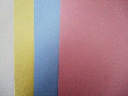 Pack de 12 A4 Cartonné 6-Rainbow carte 240gsm 6-pâle perlé carte 300gsm