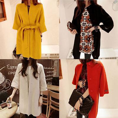 Fashion Women's Slim Winter Warm Coat Woolen Jacket Outwear Wool Coat Jacket